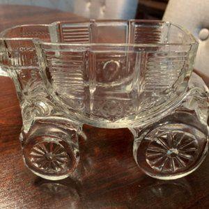 L E Smith Vintage Clear Glass Cinderella C…